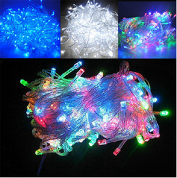 Wholesale Twinkle Light Party Curtains - LED String Light Christmas Lights LED Fairy Strings 10m 30m 50m 100m LED Strings Christmas Party Wedding Lights Twinkle Lights LED Fairy