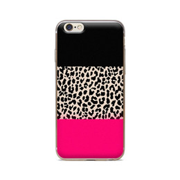Wholesale Leopard Silicone Iphone Case - Wholesale For iPhone 4 4S 5 5S 5C 6 6S 6Plus Three Color Leopard Grain Of Skin TPU Silicone Gel Protective Cover