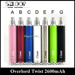Wholesale Ego Twist Voltage - Original Clover Overlord Twist Battery Variable Voltage 2600mah E Cigarette Battery 3.2V-4.8V vs EGO II Twist XDOG II Battery