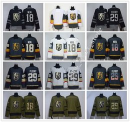 Wholesale Women Red Service - 2018 New Season Man Women Youth #18 James Neal Jersey Gray White 100th Black #29 Marc-Andre Fleury Army Green Salute To Service Jerseys