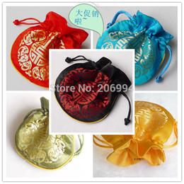 En gros 10.5cmx10.5cm Chine Soie Organza De Mariage Bijoux Sac Cadeau 12pc / lot ? partir de fabricateur