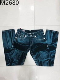 Wholesale Fly Flags - HOT Robins Men Straight t Jeans Classic Denim Trousers with Wings American Flag Jean Robin Jeans For Men Fried Snow Jeans Rhinestone r 30-40