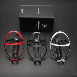 Wholesale Water Bottle Cage White - 18g Durable SUPERLIGHT Lightweight Carbon fiber bottle cage matte black water holder water cages free shipping