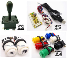 Wholesale jamma games - Wholesale-FREE SHIPPING 1 kit of single player PC joystick PCB, USB joystick PCB with wires, USB controls to Jamma arcade games