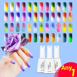 Wholesale Changing Gel - 2015 New Arrivel Top Fashion temperature gel Nail Gel Polish 1 pcs Temperature Color Change Gel Nail Soke-off Gel Polish Freeshipping