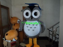 Wholesale Making Cartoon Movies - New Professional Owl Mascot Costume Cartoon Carnival Party Costume Free Shipping