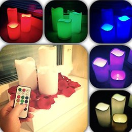 Wholesale Led Bar 18 - Multicolor Led Creative Electronic Candles 18 Button Timing Romantic Wedding Birthday Party Home Decoration Light Bar Hotel Vela