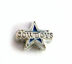 Wholesale Living Locket Wholesale - 20PCS lot Football Cowboys DIY Alloy Sport Floating Charms Fit For Magnetic Memory Glass Living Locket