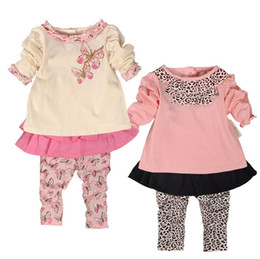 Wholesale black dot pants - New Spring Baby Girl Clothes Set Girl Top+Skirt Pant 2 Pieces 100% Cotton Baby Clothing Good Quality for 0~2 years baby