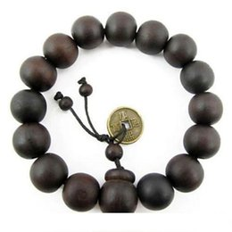 Wholesale Wholesale Mala Prayer Beads - 2015 WFashion Beaded Strands Wood Buddha Buddhist Prayer Beads Tibet Bracelet Mala Bangle Wrist Ornament Tibet Jewelery Free Shipping