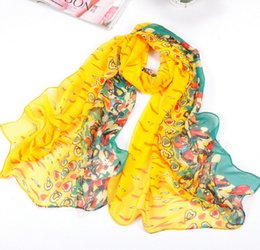 Wholesale New Sweet Love Star - HWJ112 New 2016 Spring summer Sweet Little Love Chiffon Scarves 160x50cm Towel Sunscreen Shawl for women.30pcs lot. Free ship