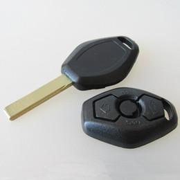 Wholesale Bmw Car Key Remote - HIgh quality car 3 button remote key shell for BM car replacement key blank case 20pcs lot free shipping