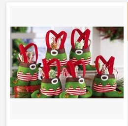 Wholesale Wedding Candy Bags Straws - In Stock Elf and Bags Santa pants Christmas Candy Gift Bag Xmas wedding Party Supplies Top Selling Christmas Decorations 500pcs H437