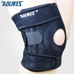 Wholesale Bike Brace - Mountaineering knee pads with 4 springs support cycling knee protector Mountain Bike Sports Safety kneepad brace