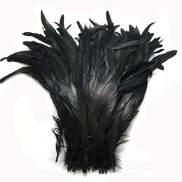 Arte de galo on-line-O envio gratuito de Atacado 100 pçs / lote 12-14 polegada preto Coque pena do galo galo cauda de penas para trajes decoração artesanato decoração do partido