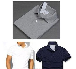 Wholesale Organic Cotton T - New Luxury Brand embroidery Big small Horse crocodile tommy t shirts for men tommy Fashion polo shirt men polo shirt