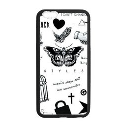 """Wholesale Tattoos Styles Designs - 1D Harry Styles Tattoo custom fashion design for iphone 6 case 4.7"""" plus 5.5"""" for iphone 4 5 5c cover back case"""