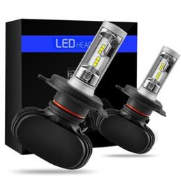 Wholesale H4 Led Headlight Bulbs - 2pcs H4 H7 LED Car Headlight Bulbs H11 H1 H3 H13 9005 9006 50W 8000LM Auto Headlamp 6500k Automobiles Fog Lamp Car Light Bulb