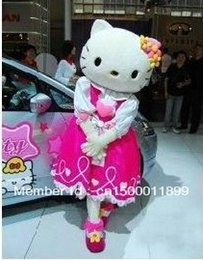 Wholesale Custom Mascots Costumes - Wholesale-hello Kitty mascot Custom Products Kitty Plush Cartoon s-xl hello Kitty mascot costumes