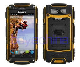 Wholesale Rugged Android 3g Gps - 3G WCDMA rugged phone Discovery V8 Waterproof Phone Quad Core MTK6582 3G GPS 4.0inch Screen 1.3GHZ 5MP Dustproof Shockproof mobile phone