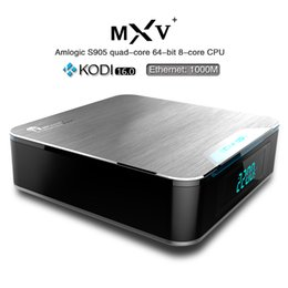 Wholesale Set Top Box Android Os - MXV Plus Amlogic S905 Android TV Box 64bit Quad Core Android 5.1 OS Pre-installed 1GB 8GB WiFi Bluetooth 1000M Cable Netw Set Top Box