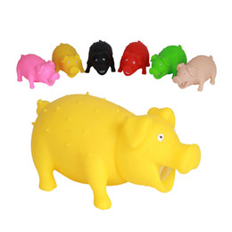 Wholesale Toys For Dogs Interactive Wholesale - Pet Pig Latex Toy with Real Squeak Assorted Colors for Small Medium Dogs Cats Pets Small Animals Assorted Colors