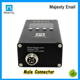 diy titane dab clou Promotion 2015 New Hot Majesty Portable Enail Dnail Kit avec réchauffeur de bobine Titanium Nail Carb Cap DIY Nail Dab Électrique