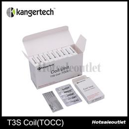 Wholesale Wholesale Cotton Japanese - 100% Original Kanger T3S Coil (TOCC) Coil head Japanese Organic Cotton Wick T3S TOCC Coil Head for Kanger T3S MT3S atomizer