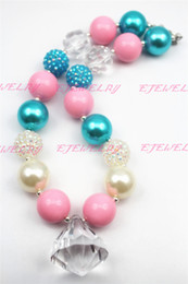 Wholesale chunky necklaces for kids - Xmas Gifts Necklace water drop Purple beads chunky necklaces for girls and kids CB276