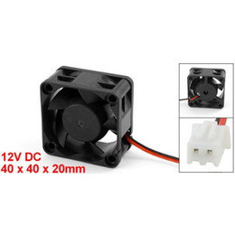 2019 ventilador de enfriamiento 12 Al por mayor-2016 Nuevo Negro Plástico 12 V DC 40 mm 20 mm 2 Alambre PC PC CPU Ventilador Ventilador ventilador de enfriamiento 12 baratos