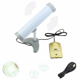 Wholesale Long Range Antennas - Wholesale-Long Range(3KM)High Power(5800MW)58DBI USB Wireless WiFi Adapter Antenna Applied