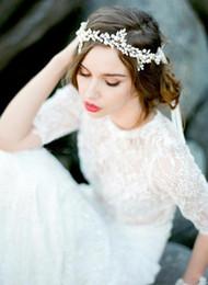 haarschmuck perlen Rabatt New Vintage Hochzeit Braut Haarbänder Luxus Perlen Kristalle Perlen Braut Dekoration Schmuck Zubehör Freies Verschiffen CPA512