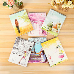 Wholesale A4 Sizes - 50 Sheets Universal Sketch Pad - A4 Size Spiral Sketchbook Notebook With Blank Paper for Kids Children Drawing Painting School