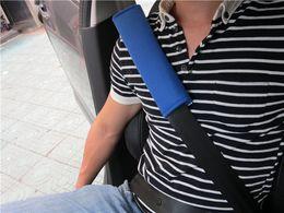 Capas de cinto de segurança para atacado do carro on-line-Confortável Almofada de Ombro Car Seat Belt Harness Strap Capa Almofada Atacado Frete Grátis