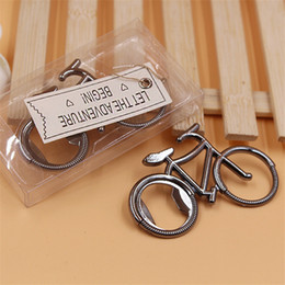 Wholesale Vintage Opener - Vintage Metal Bicycle Bottle Opener Wine Beer Bottle Opener For Cycling Lover Wedding Favor Party Gift Present LZ0729
