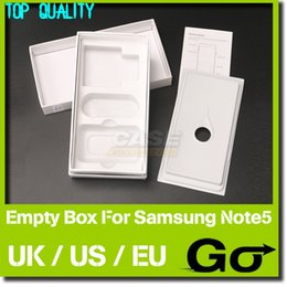 Wholesale Galaxy Note Box Packaging - 100% Original Packing Box 30pcs US UK EU Version Empty Packaging Boxes For Samsung Galaxy Note 5 32GB Packages Without Accessories