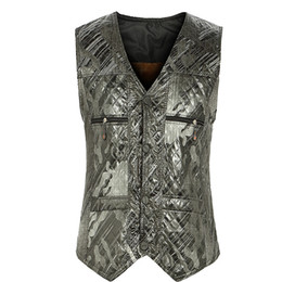 Wholesale Waistcoat For Men Styles - Fall-Winter Fall Fashion European Style Plus Size 3XL Mens Fleece Printed Sleevelss Warm Suit Vest , Waistcoat For Man , Male Vests