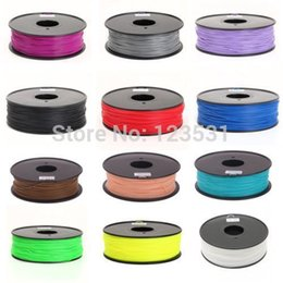 Wholesale makerbot 3d - 3D Printer Filament   ABS or PLA and 1.75 or 3.0 mm   plastic Rubber Consumables Material   MakerBot RepRap UP 3D Printers Filaments