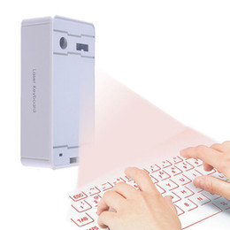 Wholesale Wireless Projection Keyboard For Ipad - Wholesale-Bluetooth Lazer Keyboard Wireless Virtual Laser Projection Portable Full Size Keyboard for iPad iPhone Android iOS Windows Mac