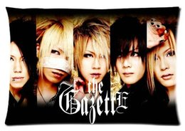 Wholesale Pictured Rocks - The Gazette Japan Rock Band Custom Pillowcase Cover Two Side Picture Size 20x30 Inch