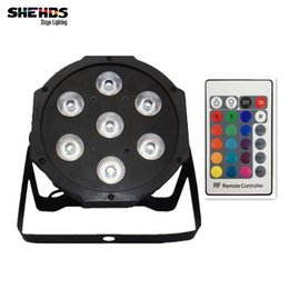Wholesale Stage Lighting Bulbs Led - Wireless remote control LED Par 7x12W RGBW 4IN1 LED Wash Light Stage Uplighting Party lightsNo Noise Remote control Free shipping