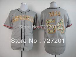 Wholesale Wholsale Jersey - Wholesale Wholsale Men's Baseball Jerseys Cheap San Francisco Giants #54 Sergio Romo Grey Camo Jersey,Embroidery Loges