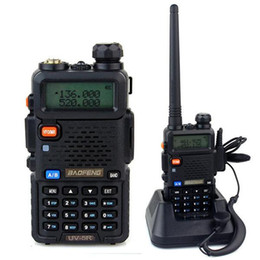 Wholesale Vhf Uhf Transceivers - Lowest Price BF-UV5R Handheld Portable Walkie Talkie BaoFeng UV-5R 128CH Dual Band UHF+VHF DTMF Two-Way Radio Transceiver A0850A