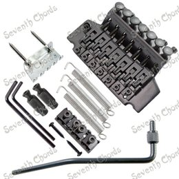 Wholesale Black Floyd Rose Tremolo - A set Black 7 String Floyd Rose Tremolo Bridge Double Locking Systyem for Electric Guitar. GUITAR PARTS