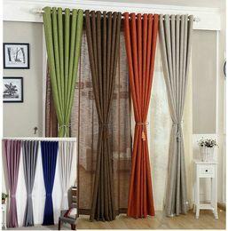 Cortinas de lino para sala de estar / Tul + Cortina de tela Blanco Rojo Naranja Verde Sólido Rústico Respetuoso del medio ambiente Tratamiento de la ventana Sombras desde fabricantes