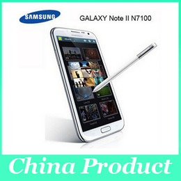 """Wholesale Note 8mp 8gb - Original Unlocked Mobile Phone Samsung Galaxy note II 2 N7100 Android 4.1 Cell Phone 5.5"""" HD 8MP Camera Quad-Core 1GB RAM 8GB ROM DHL 002836"""