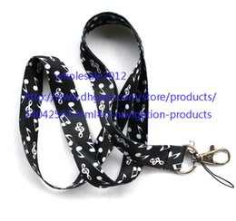 """Wholesale Chain Protectors - free shipping - Wholesale - 10pcs musical key Lanyard Styles Key Chain ID Badge Holder Protector 18"""" mobile phone charms straps S#40"""