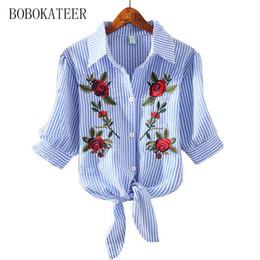 Wholesale Blusas Moda - Wholesale- BOBOKATEER embroidery blouse short shirt women blouses shirts white tops blusas mujer de moda 2017 chemise femme camisa feminina