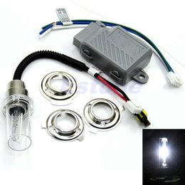 Wholesale Hid 35w Lamp Motorcycle - Motorcycle Motorbike Headlight Hid Kits Light Bulb H6 6000K 35W Xenon Lamp