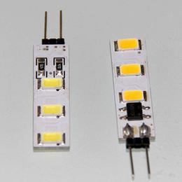 Wholesale Bi Pin Bulbs - G4 1W Strip PCB Bi-Pin Crystal LED bulbs 6 LED 5630(5730) SMD 80-100LM DC 12V